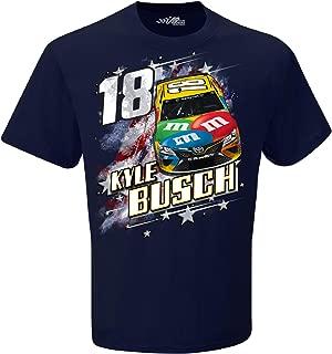 2019 NASCAR Men's Patriotic USA 2-Spot Driver/Sponsor T-Shirt