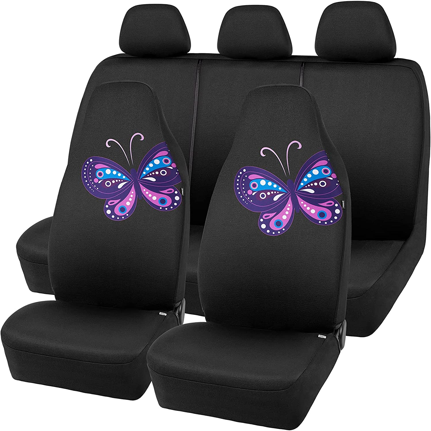 Road Comforts Butterfly Car Seat Cover High - Back shop Made Full Set material