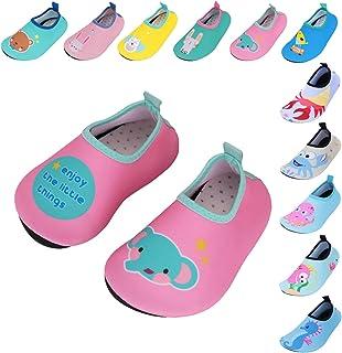 Caitin Kids Water Swim Shoes Quick Dry Non-Slip Barefoot Aqua Socks for Beach Pool
