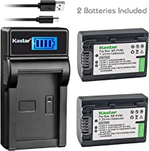 Kastar Battery (X2) & SLIM LCD Charger for Sony NP-FV50 NP-FV40 NP-FV30 and AX53 CX675/B CX220 CX230 CX290 CX330 CX380 CX430V CX900 PJ200 PJ230 PJ340 PJ380 PJ430V PJ540 PJ650V PV790V PJ810 TD30V AX100