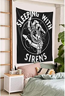 CaryJShelby Sleeping with Sirens Tapestry Wall Hanging,Flag Straight Tapestry Bedding Tapestry Art Tapestry Home Decor 60X...