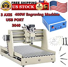 Milling Machines, CNCEST USB 3040 3 AXIS Power Milling Machines 400W CNC Router Engraver Engraving Drill Milling Machine 110V Cutting Drilling Desktop Machine, USA STOCK