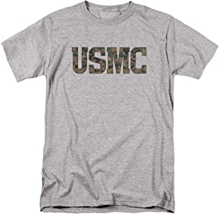 US Marine Corps USMC Camo Fill Unisex Adult T Shirt for Men and Women