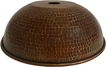 Premier Copper Products Hand Hammered Copper 10.5″ Dome Pendant Light Shade