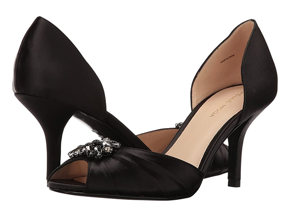 Pelle Moda Ilan 2 (Black Satin) High Heels