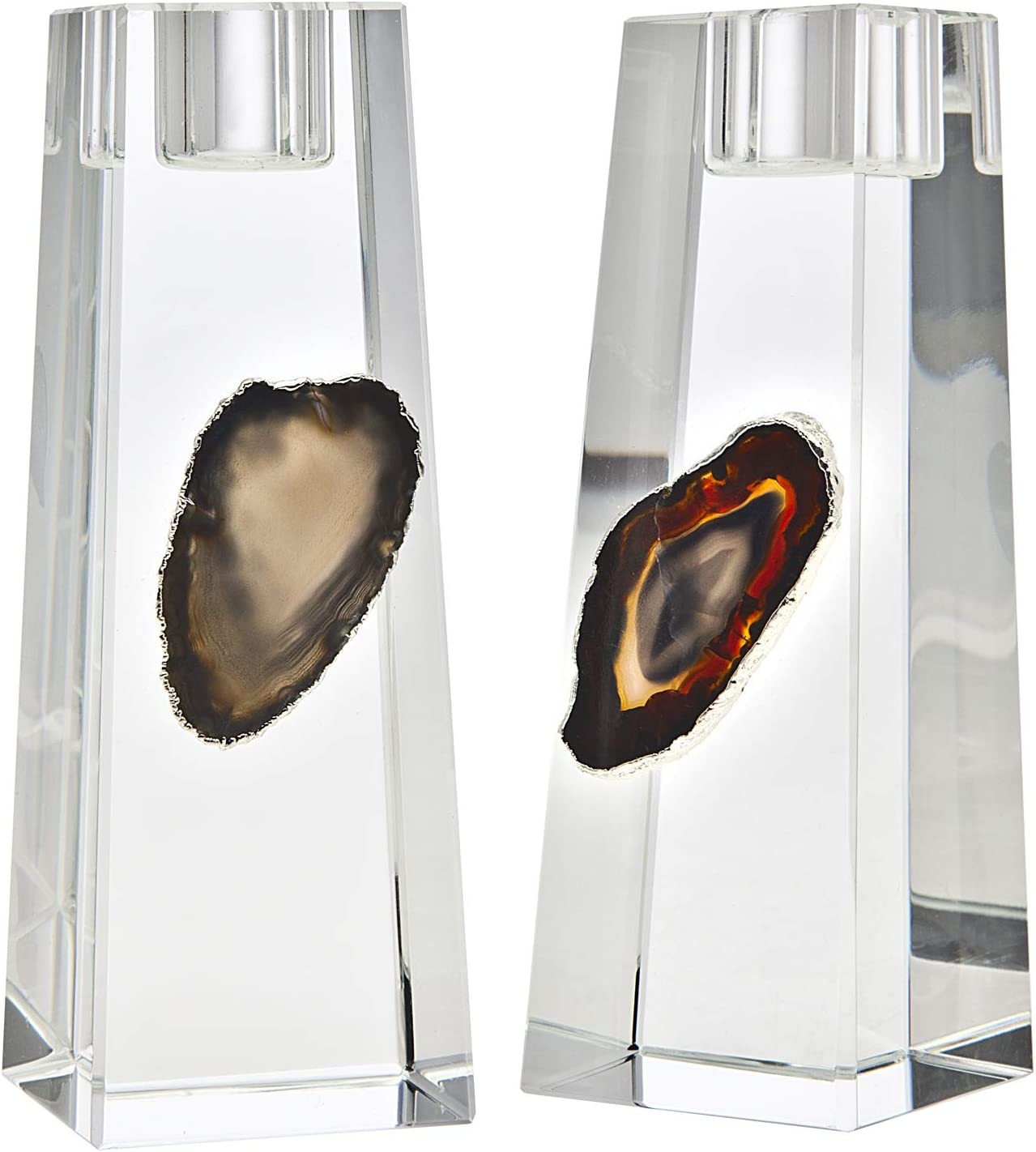 Philip Whitney Medium Black Agate and Candle Discount mail order Silver NEW before selling Holder Home