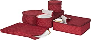 Richard`s Homewares - Quilted China Keepers 6pc. Starter Set - Crimson