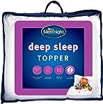 Silentnight Deep Sleep Mattress Topper, Polyester-Cotton, White, Single