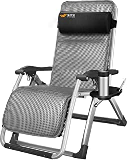 Recliner BSJZ Deck Chair Garden Loungers and Recliners Sun Bed Office Folding Chairs with Cushion in Textoline with Free S...