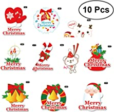 TOYMYTOY 10pcs Christmas Cartoon Sticker Cup Refrigerator Switch Sticker Decals Wall Decals Art Murals Decoration