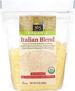 365 Everyday Value, Organic Shredded Italian Cheese (Parmesan, Asiago, Fontina, Mild Provolone), 12 oz