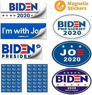 Biden bumper sticker Biden car magnet Waterproof Decal for Car, Bumper, Motorboat, Laptop, Helmet, support Joe Biden for President 2020 Magnetic Bumper Sticker Oval 5.5