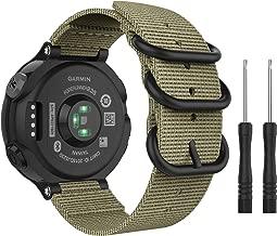 MoKo Watch Band for Garmin Forerunner 235, Fine Woven Nylon Adjustable Replacement Strap for Garmin Forerunner 235/235 Lite / 220/230 / 620/630 / 735XT Smart Band - Khaki