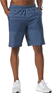 R-Gear Men's Long Gone 9-inch Running Athletic Shorts with Pockets and Brief Liner