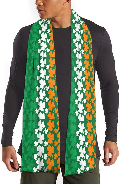 Womens Winter Scarf Patricks Day Irish Flag Wraps Warm Pashmina Shawls Gift Reversible Soft For Girls