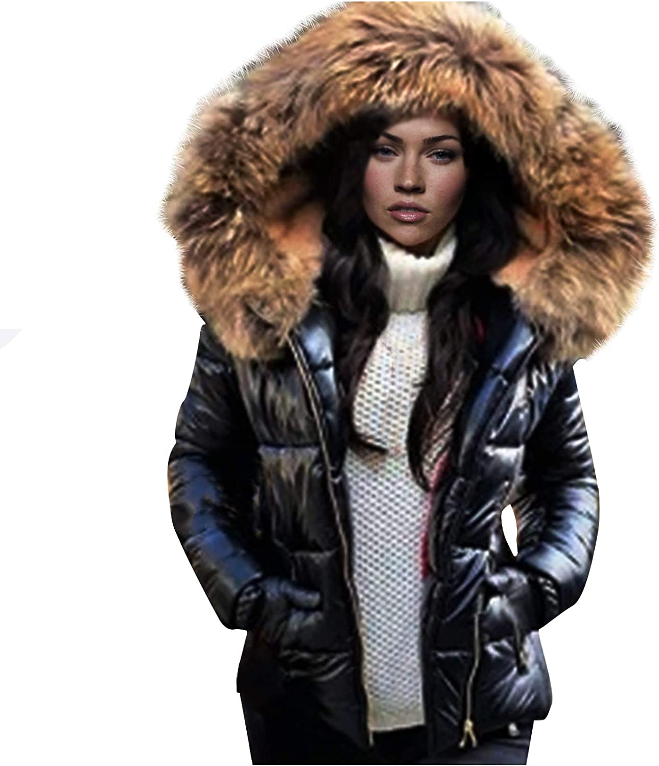 Gwewei4df Women's Winter Max 56% OFF Many popular brands Smooth Jacket Zipper Warm Front