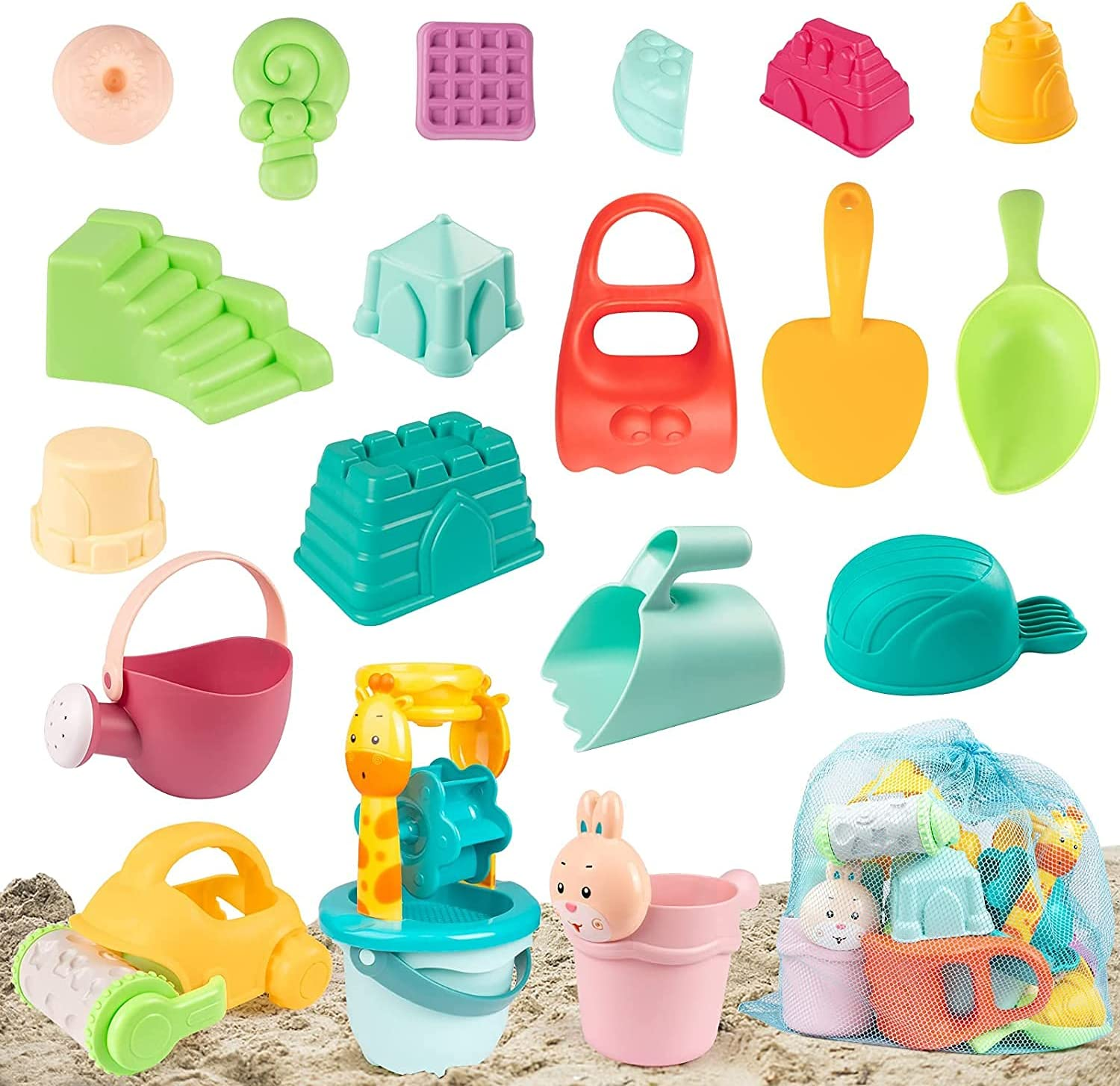 GobiDex Beach Sand Toys-27Pcs Molds Toys with Daily bargain sale Special Campaign Set