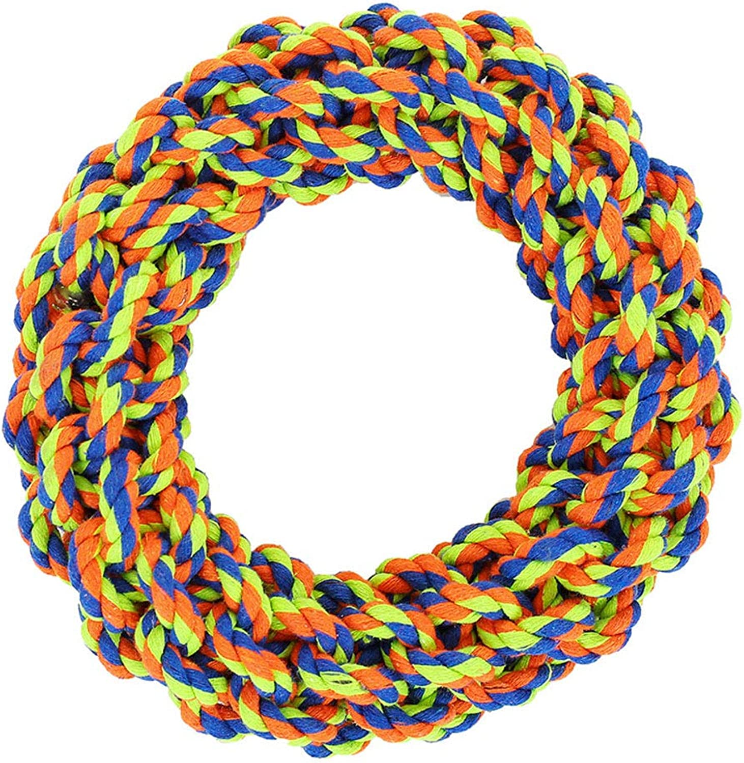 Nanle Puppy Pet Braided Rope Toys Set Puppy Chew Durable Interactive Cotton Toys Chew Toy Floss Rope Frisbee Cotton Rope Toys (color   Style A)