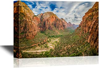 wall26 - USA Landmarks Canvas Wall Art - Magical Landscape from Zion National Park Utah - Gallery Wrap Modern Home Decor | Ready to Hang - 24x36 inches