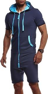 Leif Nelson Tuta da Jogging Salopette Onesie Monopezzo da Uomo LN-8313