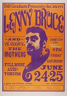 lenny bruce fillmore poster