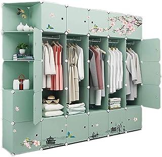 Garde-robe XINYALAMP Armoire assemblée Chambre à Coucher Simple Chambre à Coucher Moderne Moderne Location Chambre avec Ar...