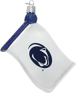 Old World Christmas Penn State University Flag Glass Blown Ornament