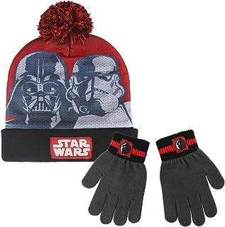 Star Wars 2200002556 Darth Vader en Storm Trooper Winter Set voor kinderen Inclusief Beanie Bobble Hoed en Handschoenen, U...