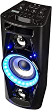 "auna UltraSonic Pulse V6-40 - Altoparlante Karaoke, Woofer da 5,5""(14 cm), Woofer da 2 x 1,7"" (4,5 cm) Alto/Medio, 40W RMS, Bluetooth, 2 x USB, FM, Microfono, Batteria, Nero"