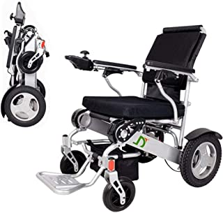 OneChange Power Wheelchair Lightweight Folding Electric Wheelchair, Deluxe Fold Foldable Power Compact Mobility Aid Wheel ...