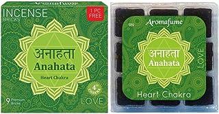 Aromafume 7 Chakra Anahata - Love - Heart Chakra Incense Bricks Refill Pack (Contains 2 Boxes of Anahata - Love - Heart Ch...
