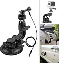 Suction Cup Mount Stand Tripod Adapter and Safety Tether Lanyard Cable for Gopro Hero Session 7 6 5 4 3+ 3 2 1,DJI OSMO Action, Action Compact Camera