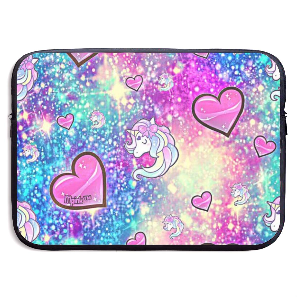 Pink Hear Black Laptop Sleeve 15 inch Shock Resistant Notebook Briefcase Computer Protective Bag Tablet Carrying Case for MacBook Pro//MacBook Air//Asus//Dell//Lenovo//Hp//Samsung//Sony
