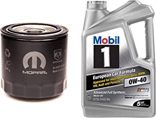 A.T. Products Corp. Mopar Oil Filter, MO-899 Bundle with Mobil 1 Advanced Full Synthetic Motor Oil 0W-40, 5-Quart