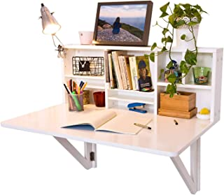 SoBuy Mesa plegable de pared con estante integrado, B90 x