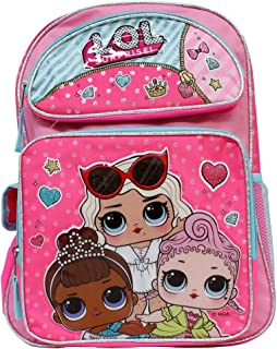 LOL Surprise! Hot Pink 16' Backpack- Royal Hi-Ney, Miss Baby & Leading Baby
