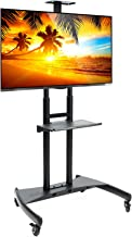 Rolling TV Stand Mobile TV Cart for 55-80 inch Plasma Screen, LED, LCD, OLED, Curved TV's - Universal Mount with Wheels