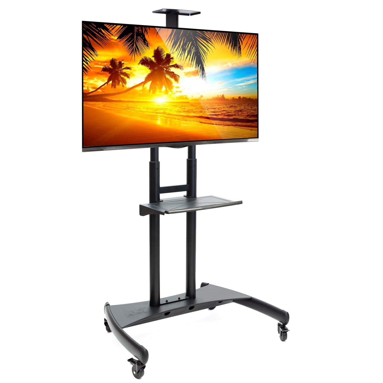 Rolling TV Stand Mobile TV Cart para 55-80 Pulgadas Plasma Pantalla, LED, LCD, OLED, Curved TVs – Soporte Universal con Ruedas: Amazon.es: Hogar