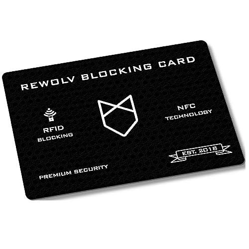 RFID Blocker Karte – Premium – Eine Karte schützt die gesamte Geldbörse vor Datendiebstahl – ohne RFID Schutzhülle Kreditkarten – Neuste Technologie und erhöhter Schutzradius (NFC)