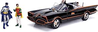 "Jada 98625 DC Comics Classic TV Series Batmobile Die-cast Car, 1:18 Scale Vehicle & 3"" Batman & Robin Collectible Figurine..."