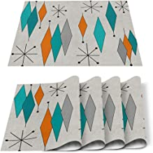 - Starburst Navy Large by heatherdutton Mid Century Modern Placemats Geometric  Retro Vintage Cloth Placemats by Spoonflower Set of 2