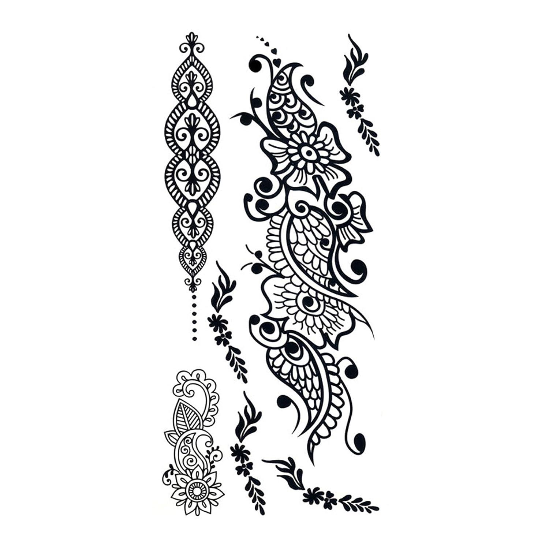 タトゥーシール Lacy Masquerade レーシィマスカレード (GT-504) Tattoo Seal ボディシール フェイクタトゥー 刺青ボディアート ボディジュエリー
