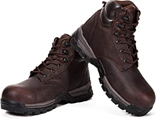 Rockrooster Men's Work Boots, Steel/Composite Toe, Safety Water Resistant Leather, Women Shoes, EEE-Wide