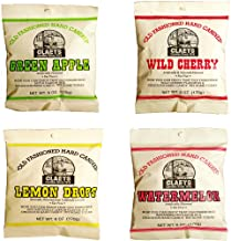 product image for Claeys Old Fashioned Hard Candy - Variety 4 Pack - Apple, Cherry, Lemon, and Watermelon - Since 1919