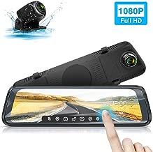 Surveillance de Stationnement Vision Nocturne Time-Lapse IXROAD Dashcam Voiture R/étroviseur /Écran Tactile de 10 Pouces 1080p Dash Cam Grand Angle 170/° avec Cam/éra de Recul