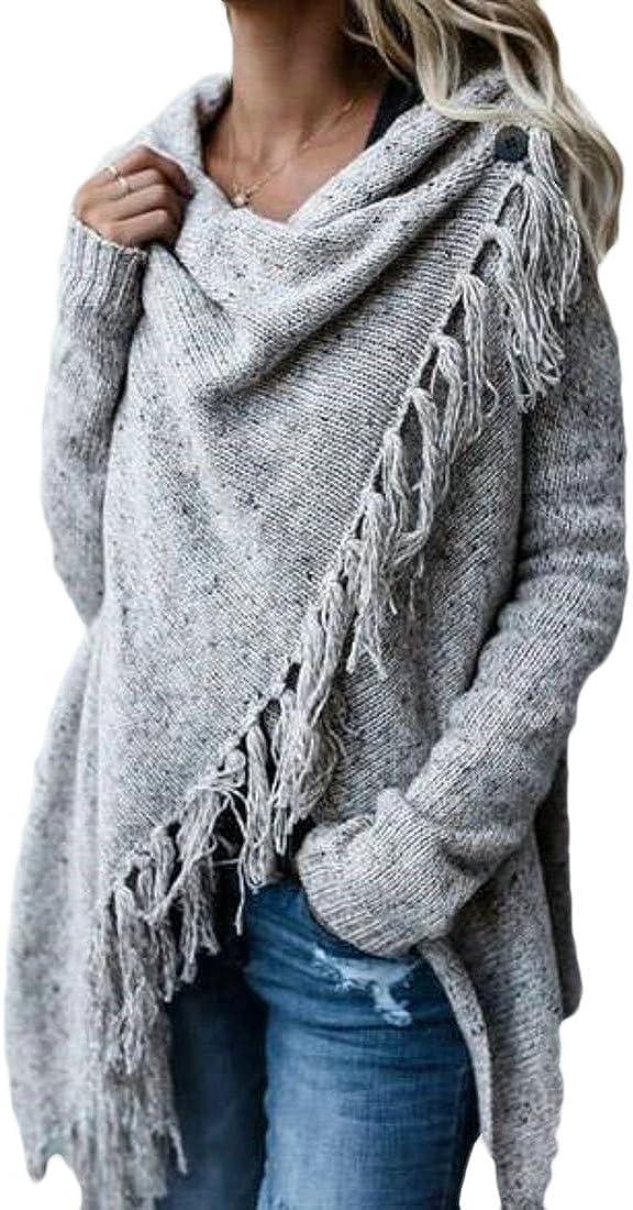 Max 65% OFF XTX Women's Knitted Long Sleeve Plus Sweat San Antonio Mall Size Cardigan Tassles