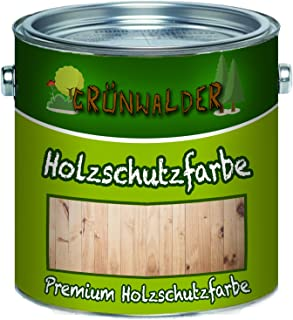 Grünwalder Wetterschutzfarbe premium Holzschutzfarbe hochdeckende Holz-Farbe 5 L, Farblos