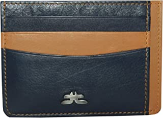 Laveri Genuine Leather Credit Card Holder Wallet Bill And Card Holder For Unisex - Leather, Blue
