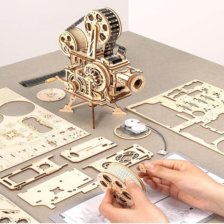 solo para ti TYZY Rompecabezas educativos educativos educativos 3D Viejo proyector Caja de cifrado Regalo DIY Juguetes de Madera ensamblados para la Edad 14 22.3  13.3  25.5 cm  tienda en linea