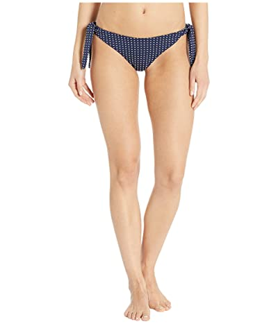 Eberjey Coastal Dot Kiki Bikini Bottoms (Peacoat/White) Women